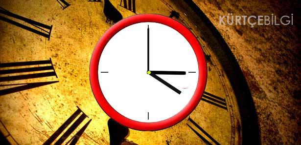 Kürtçede Saat 1'i 45 dakika geçiyor nasıl denir?